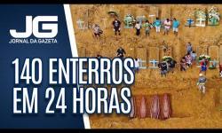 VÍDEO: Com 140 enterros em 24 horas, Manaus bate recorde de registros desde início de pandemia