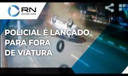 [VÍDEO CHOCANTE] PM morre após ser ARREMESSADO em acidente entre duas viaturas