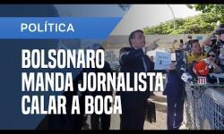 VÍDEO: Bolsonaro nega interferência na PF e manda jornalista calar a boca