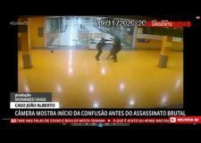 Câmera de segurança mostra momento em que segurança leva soco antes das agressões em supermercado; assista