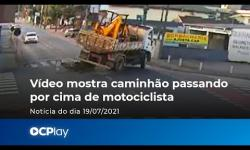 Vídeo FLAGRA caminhão passando por cima de motociclista; assista