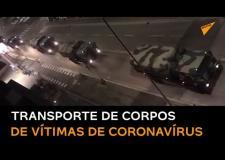 VÍDEO: Comboio militar retira corpos de vítimas de coronavírus na Itália