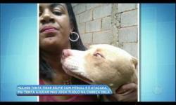 VÍDEO: Mulher é atacada ao tentar tirar selfie com pit bull