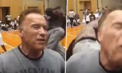 Vídeo: Arnold Schwarzenegger é acertado com chute pelas costas em evento na África do Sul