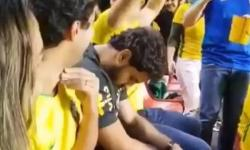 VÍDEO: Torcedor dorme na estreia do Brasil na Copa América e viraliza na web: 'Meu sono é bem pesado'