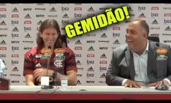 'Gemidão' causa na apresentação de novo craque do Flamengo; assista