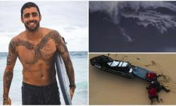 Vídeo mostra resgate após Pedro Scooby surfar onda de 15 metros em Portugal