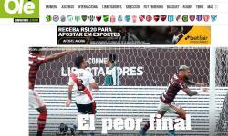 'Olé' chama derrota do River de 'pior final' e destaca erro de Pratto