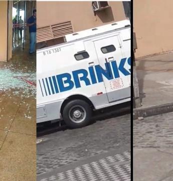 Vídeo: Tentativa de assalto a carro-forte deixa vigilante baleado em estado grave, em João Pessoa