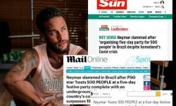 Réveillon de Neymar para 500 pessoas na pandemia vira notícia internacional