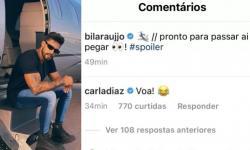 No Instagram, Carla Diaz manda 'indireta' para Arcrebiano