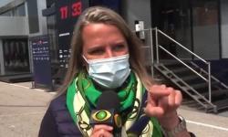 ASSISTA - Repórter da Band, Mariana Becker rebate resposta atravessada de piloto ao vivo: 'Grosso'