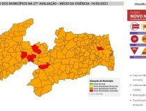 PLANO NOVO NORMAL: Paraíba tem 213 cidades na bandeira laranja e 10 na bandeira vermelha