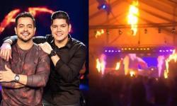 Dupla sertaneja tem show interrompido após incêndio tomar conta do palco – VEJA VÍDEO
