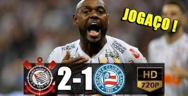 VÍDEO: Corinthians ganha do Bahia e volta ao G4