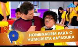 ASSISTA: SBT faz tímida homenagem ao humorista paraibano 'Rapadura'