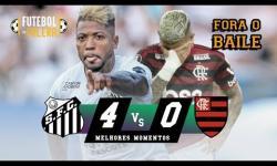 VÍDEO: Santos massacra o Flamengo na despedida do Brasileirão