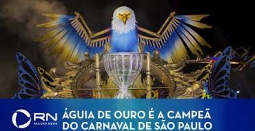 Águia de Ouro é a campeã do Carnaval de São Paulo