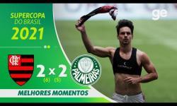VÍDEO: Nos pênaltis, Flamengo vence o Palmeiras na final da Supercopa