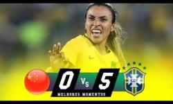 VÍDEO: Brasil goleia a China na estreia do futebol feminino nos jogos olímpicos
