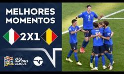VÍDEO: Itália vence Bélgica e fica em 3º na Nations League