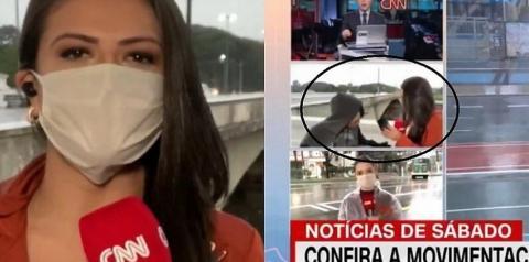 Repórter da CNN é assaltada durante link ao vivo no jornal da emissora; assista