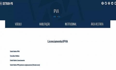 Divulgado calendário de pagamento do IPVA 2019 na Paraíba; confira