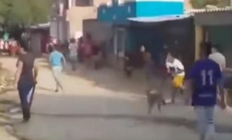 Vídeo: Vizinhos trocam pedradas por causa da senha de wi-fi