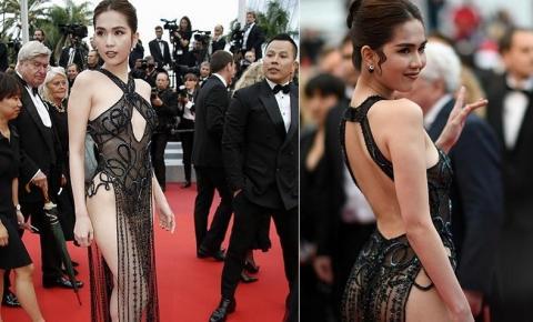Modelo é investigada por usar vestido ousado em evento