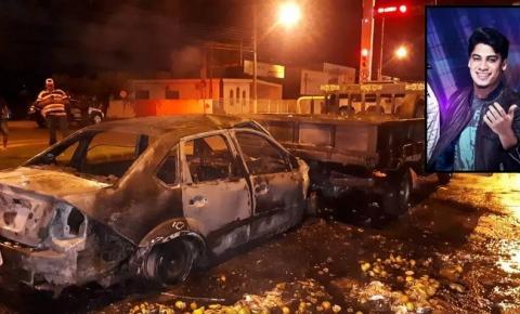 Cantor sertanejo é resgatado de carro em chamas após colidir em caminhonete