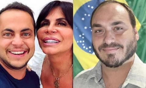 """""""Desejo que ele se assuma e possa desfilar com o namorado"""", diz Gretchen sobre Carlos Bolsonaro"""