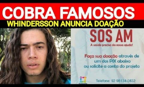 Whindersson Nunes anuncia doação de oxigênio para Manaus e cobra famosos