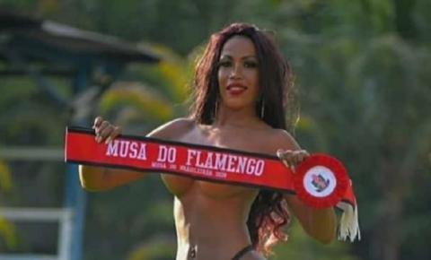 Musa do Flamengo posa com lingerie transparente para comemorar título! FOTOS PICANTES