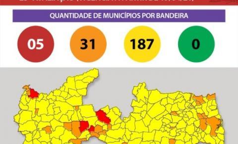 NOVO NORMAL: Bayeux e Santa Rita são as únicas cidades da região metropolitana na bandeira laranja