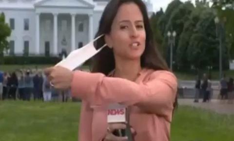 Repórter da Globo tira máscara ao vivo e ato causa comoção na web: ASSISTA