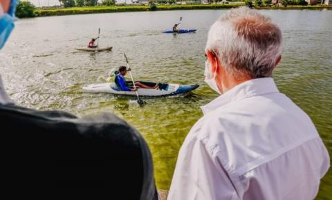 Prefeito de JP abre projeto de Canoagem Olímpica para estudantes da Rede Municipal