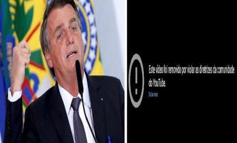 ASSISTA: YouTube remove vídeos de Bolsonaro por informações erradas sobre Covid-19
