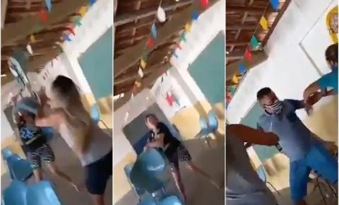 VÍDEO: Pancadaria com cadeiradas em fila de vacinação na Paraíba viraliza nas redes sociais