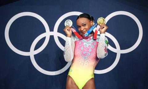 Rebeca Andrade será porta-bandeira do Brasil no encerramento das Olimpíadas
