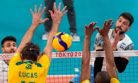 Brasil perde da Argentina e fica sem medalha no vôlei masculino em Tóquio