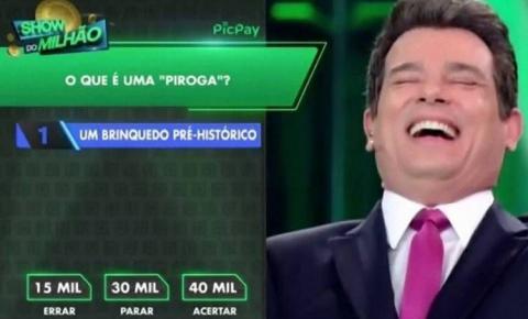 Celso Portiolli se confunde e fala palavrão no Show do Milhão; confira no vídeo