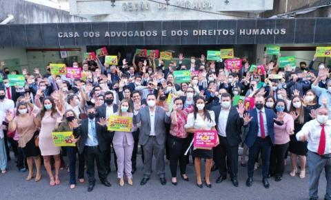 Oposição registra chapa com Raoni e Taísa Gadelha para disputa da OAB-PB