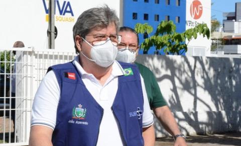 João Azevêdo comemora dia sem mortes por covid-19 na Paraíba: