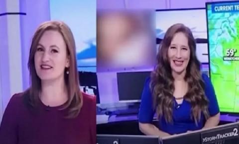 Vídeo PORNÔ é exibido em telejornal sem que apresentadora perceba [ASSISTA]