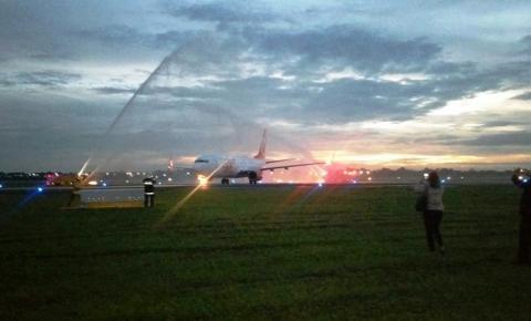 Primeiro voo da Argentina para o Castro Pinto chega lotado