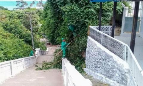 PMJP intensifica serviços de limpeza e zeladoria para Feira e Romaria da Penha