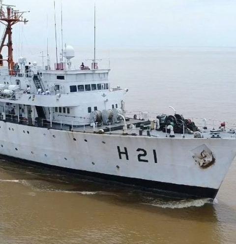 Navio da Marinha fica aberto para visitação no Porto de Cabedelo neste fim de semana
